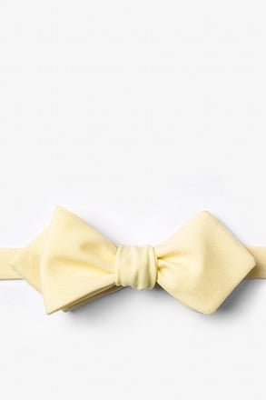 _Denver Yellow Diamond Tip Bow Tie_