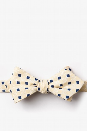 _Jamaica Yellow Diamond Tip Bow Tie_