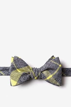 Kirkland Yellow Self-Tie Bow Tie