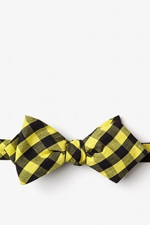_Pasco Yellow Diamond Tip Bow Tie_