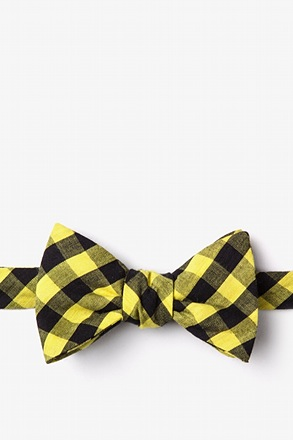 Pasco Yellow Self-Tie Bow Tie