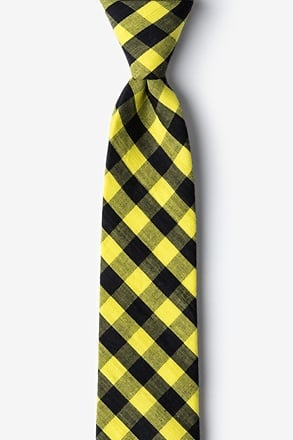 Pasco Yellow Skinny Tie