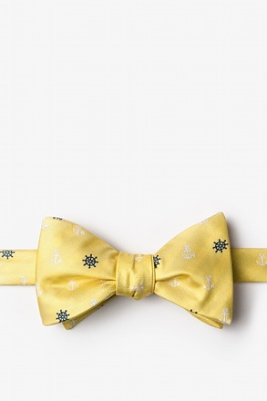 _Anchors & Ships Wheels Yellow Self-Tie Bow Tie_