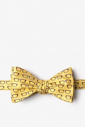 _Four Eyes Yellow Self-Tie Bow Tie_
