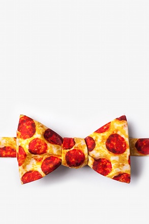 The Pizza Yellow Self-Tie Bow Tie