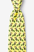 Toucans Yellow Extra Long Tie Photo (0)