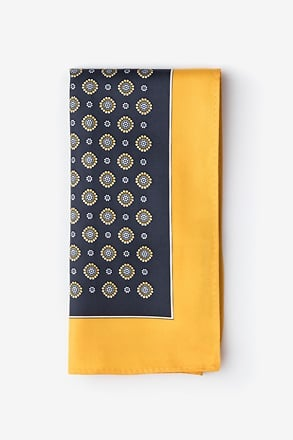 _Joe Yellow Pocket Square_