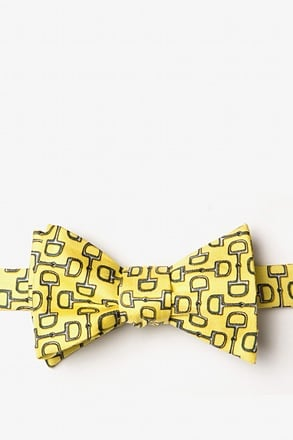 _Bit by Bit Yellow Self-Tie Bow Tie_