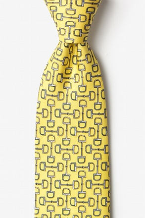 _Bit by Bit Yellow Tie_