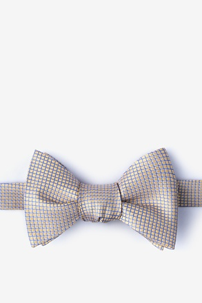 _Buck Yellow Self-Tie Bow Tie_