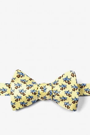 _Dangerous Business Yellow Self-Tie Bow Tie_