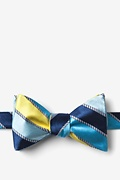 Yellow Silk Know the Ropes Self-Tie Bow Tie