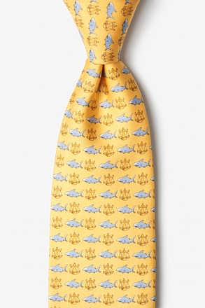 Lawyer Shark Yellow Tie