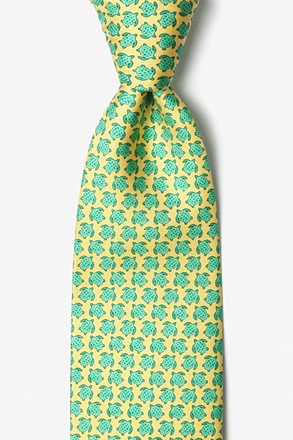 Micro Sea Turtles Yellow Tie