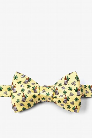 _Mint Julep Afternoon Yellow Self-Tie Bow Tie_