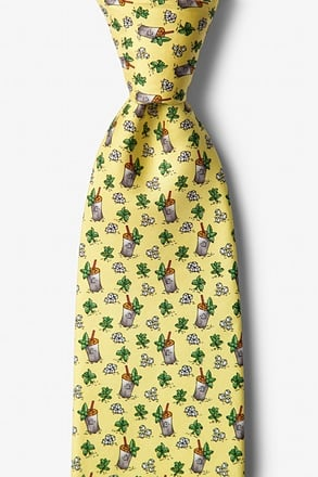 _Mint Julep Afternoon Yellow Tie_