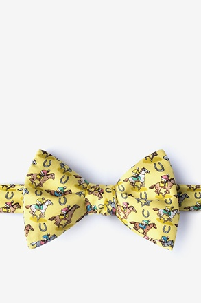 _Pony Up Yellow Self-Tie Bow Tie_