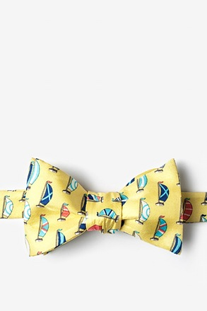 _Seas the Day Yellow Self-Tie Bow Tie_