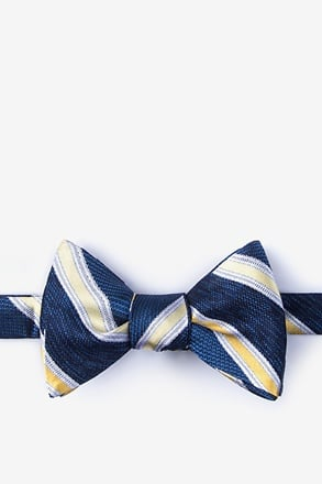 _Shannon Yellow Self-Tie Bow Tie_