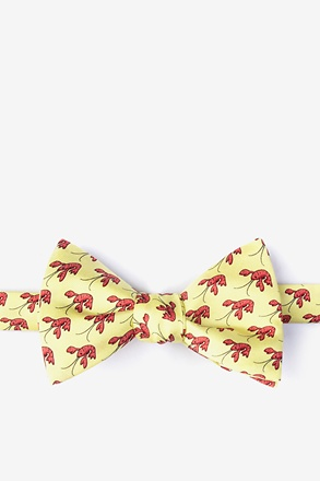 _That Fish Cray Yellow Self-Tie Bow Tie_