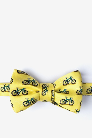 Two Tire-d Yellow Self-Tie Bow Tie